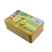 Wholesale Lemon Cake Tin Box ,CYMK Printed Metal Container Food Graded 0.23mm from china suppliers