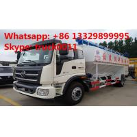 Quality 2017s new cheapest FOTON poultry feed truck for sale, factory sale best price FOTON 8-12tons farm-oriented feed truck for sale