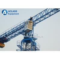 Buy cheap Overhead Flat Top Tower Crane Lifting Equipment 30m Freestanding Height from wholesalers
