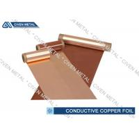 Wholesale 600mm Conductive Copper Foil Sheet , Single - Shiny Treated RA Cu Foil from china suppliers