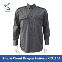 Wholesale Cotton Poly Twill Military Style Shirts For Spring Autumn Security Guard / Police from china suppliers