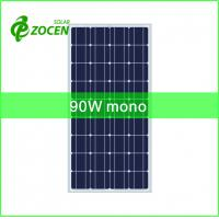 Wholesale 12V 90W Solar Panel With Mono Solar Cells Used In Solar System For Home from china suppliers