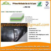 Wholesale PE Woven With Double Side Alu Foil Coated as radiant barrier from china suppliers