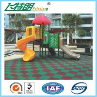 Wholesale Kindergarten / Park Rubber Mats Playground 50×50×3 cm Recycled Rubberized Flooring from china suppliers
