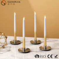Wholesale Battery-powered Flameless LED Taper Candles With Half gold , silver painted from china suppliers