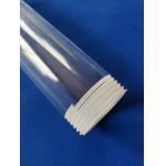 China custom Transparent Irregular shape quartz lining tube screw thread tube Screw Thread Fused Silica Quartz Glass Pipe for sale