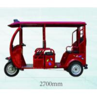 Wholesale 1280W / 1800W Electric Passenger Tricycle Half Closed Passenger Motor Tricycle With Roof from china suppliers
