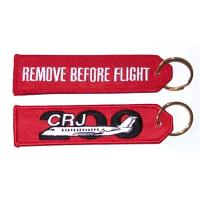Wholesale Remove Before Flight CRJ-200 Embroidered Key Ring Banner from china suppliers