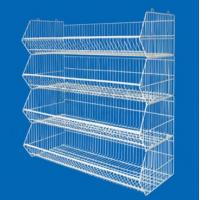 Wholesale Movable 4 Tier Chromed Steel Wire Super Market Racks With Powder Coating / Painted Zinc from china suppliers
