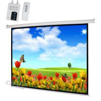 Wholesale House Movie Electric Projection Screen W Remote , Motorized Theater Screen Easily Assembled  from china suppliers