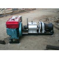 Quality Cable Pulling Winches 5 Ton Variable Speed Diesel Power Winch For Tower Erection for sale