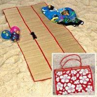 China 3-Fold Straw Beach Mat on sale
