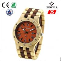 Wholesale Luxury Japanese Movement Wooden Watch With Date , Bewell Wood Watches from china suppliers