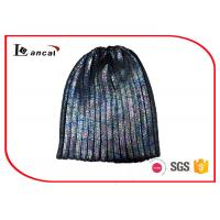Wholesale Foil Print Winter Knit Hats 95 Gram Purple Knit Beanie For Men from china suppliers