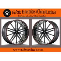 Wholesale SS wheels - Gloss Black Red Ring Forged Wheels 100 - 139 . 7mm PCD from china suppliers