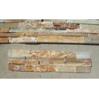Wholesale Good Color Beige Quartzite Stone Veneer Rough Surface Natural Stacked Stone Real Culture Stone from china suppliers