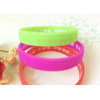 Quality Embossed Logo Low Relief Buddhism Relief Solid Custom Silicone Wristbands for sale