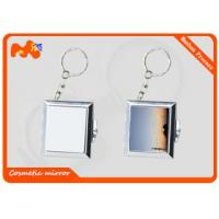 Wholesale Square Sublimation Metal Blanks Mirror , Colorful Compact Makeup Mirror from china suppliers