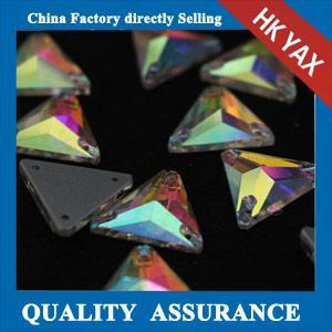 Wholesale China Wholesale sew on rhinestone Triangle sew-on rhine stones,Crystal AB flatback rhinestone from china suppliers