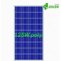 Wholesale 125W 18Volt Polycrystalline Solar Panels with 36 156 x 156 Poly Crystalline Solar Cells from china suppliers