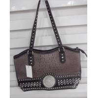 Wholesale new collection western immitation leather handbag with big rhinestone concho from china suppliers