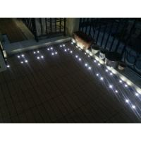 Quality WPC interlocking decking with solar light, CE certificate for sale