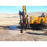 Quality 400m crawler drilling machine , Water Well Drilling Rig with high rotation torque for sale
