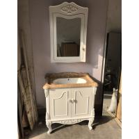 Wholesale Square White PVC Bathroom Floor Cabinet / Bathroom Washbasin Cabinet 800 * 480mm from china suppliers