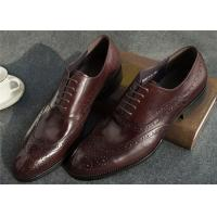 Narrow Style Mens Leather Oxford Shoes , Comfy Modern Office Mens Shoes