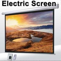 """Wholesale 1:1 60""""Motorized Projector Screen With Remote Control,Matte White Fabric Screen For Movie Theater from china suppliers"""