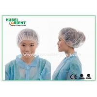 Wholesale 12gsm Disposable Nonwoven Bouffant Cap 21 Inch in White Red from china suppliers