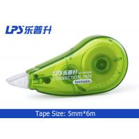 Quality School Student Cute Correction Tape , 6M Green Colored Correction Tape for sale