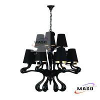 Wholesale 9 Lamps Modern Resin Chandelier for Indoor Adjustable Steel Wire MS-P3015 from china suppliers