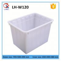 Wholesale 120L White rectangular HDPE plastic container for washing powder without lid from china suppliers