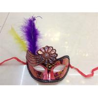 Wholesale Halloween Venetian Masquerade Party Hollow Flower Decoration Mask With Feather from china suppliers