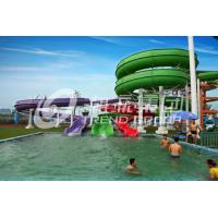 Wholesale Customized Color Spiral Fiberglass Water Slides Galvanized Carbon Steel Frame from china suppliers