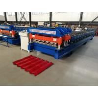 Buy cheap 4 Meter / Min Servo Motor Glazed Tile Roll Forming Machine new style cutter from wholesalers