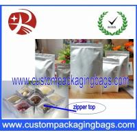 Wholesale Silver Ziplock Stand Up Food Grade Packaging Bags 15cm x 22cm from china suppliers