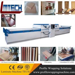 Wholesale PVC veneer wood vacuum membrane press machine for door making from china suppliers