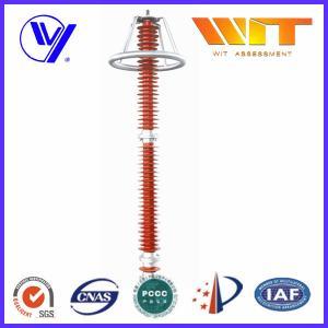 Wholesale 220KV Red Transmission Line Surge Arrester , Composite Polymer Lightning Arrestor from china suppliers