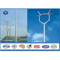 Quality Hot Roll Steel Metal Utility Poles , 345Mpa Min Yield Stress Electrical Poles And Towers for sale