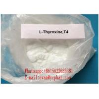 Wholesale Healthy Fat Burning Hormones L-Thyroxine T4 Sodium Powder For Fat Loss 51-48-9 from china suppliers