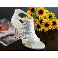 Wholesale China Wedding Shoes / White High-Heel Bridal Shoes with Varnished Heel for wedding from china suppliers