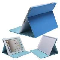 Wholesale For leather ipad case and cover with stand holder and strap blue or orange color luxury from china suppliers