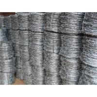 Wholesale Hot Dipped Electric Galvanized Barbed Wire Fencing With Low Carbon Steel from china suppliers