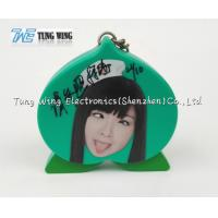 Wholesale OEM Green Peach Shaped Musical Keyring , Custom Talking Keychain from china suppliers