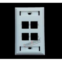 Buy cheap 4Ports Network US Wall Plates  For RJ45 Keystone Jacks ABS Face Plate from wholesalers