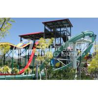 Wholesale Speed Aqua Loop / Body Slide Aqua Park Fiberglass Water Slides , Platform Height 16m for Water Park from china suppliers