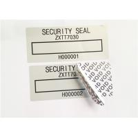 Wholesale Low Residue VOID Printable Security Labels With Matt / Glossy Silver from china suppliers
