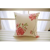 Wholesale Cream sofa cotton floral throw pillows square For living room from china suppliers